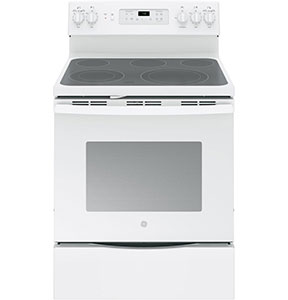 GE White 30 Free-Standing Electric Convection Range JB700DJWW